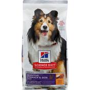 Hills Dog Food, Sensitive Stomach & Skin, Chicken Recipe, Science Diet, Adult
