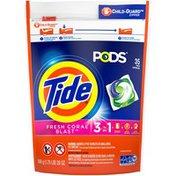 Tide Liquid Laundry Detergent Pacs, Fresh Coral Blast