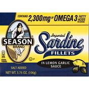Season Sardines, Fillets, in Lemon Garlic Sauce
