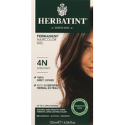 Herbatint Haircolor Gel, Permanent, Chestnut 4N