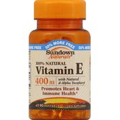 Sundown Vitamin E, 100% Natural, 400 IU, Softgels