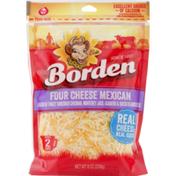 Borden Shredded Cheese Four Cheese Mexican