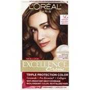 Excellence Permanent Haircolor, Warmer, Medium Golden Brown 5G