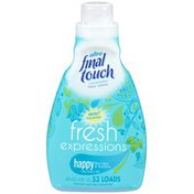 Final Touch Fresh Expressions Happy Blue Lotus & Sunshine Fabric Softener