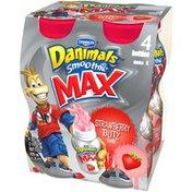 Danimals Smoothie Max Strawberry Blitz 7 Oz Smoothie