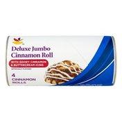 SB Deluxe Jumbo Cinnamon Roll with Gooey Cinnamon & Buttercream Icing - 4 CT