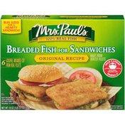 Mrs. Paul's Original Recipe Breaded Fish for Sandwiche