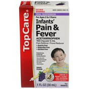 TopCare Infants' Pain & Fever Acetaminophen 160 Mg Per 5 Ml Pain Reliever/Fever Reducer Oral Suspension, Grape