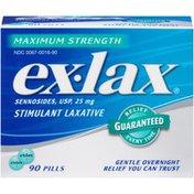 Ex Lax Maximum Strength Stimulate Pills Laxative
