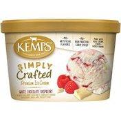 Kemps Simply Crafted White Chocolate Raspberry Premium Ice Cream