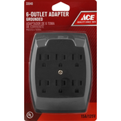 Ace Bakery Adapter, Brown, 6-Outlet, Grounded