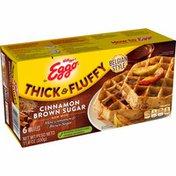 Eggo Thick and Fluffy Frozen Waffles, Frozen Breakfast, Cinnamon Brown Sugar
