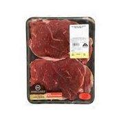 Double R Ranch Usda Choice Boneless Thin Beef Chuck Cross Rib Steak