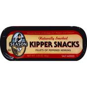 Season Kipper Snacks Fillets of Peppered Herring