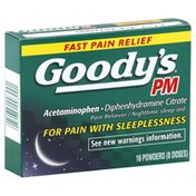 Goodys Pain Reliever/Nighttime Sleep-Aid, Powders