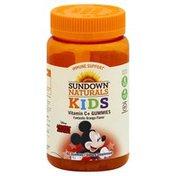 Sundown Naturals Vitamin C+, Gummies, Fantastic Orange Flavor, Disney Mickey Mouse