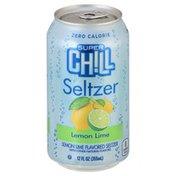 Super Chill Seltzer, Zero Calorie, Lemon Lime Flavored