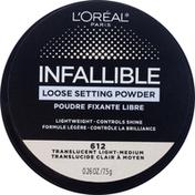 L'Oreal Loose Setting Powder, Translucent Light-Medium 612