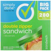 Simply Done Double Zipper Sandwich Bags