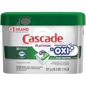 Cascade Platinum ActionPacs + Oxi, Dishwasher Detergent, Fresh Scent