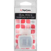 TopCare Pencil Sharpener, with Grip, Dual