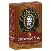 Grandpa's Soap, Sandalwood with Shea Butter & Ginseng