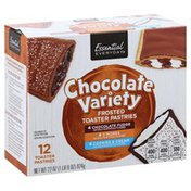 Essential Everyday Toaster Pastries, Frosted, Chocolate Variety