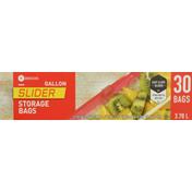 Southeastern Grocers Storage Bags, Slider, Gallon, 3.78 L