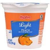 Hy-Vee Peach Light Nonfat Yogurt