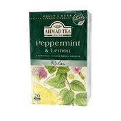 Ahmad Tea Peppermint & Lemon Herbal Tea Bags