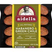 Aidells Sausage, Smoked Chicken & Turkey, Habanero & Green Chile