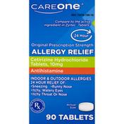 CareOne Allergy Relief, Original Prescription Strength, 10 mg, Tablets