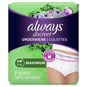 Always Discreet Incontinence Underwear, Maximum,  Underwear