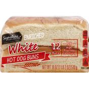 Signature Select Hot Dog Buns, White