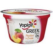 Yoplait Greek Peaches 'n Cream Fat Free Yogurt