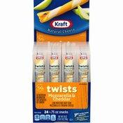Kraft Mozzarella & Cheddar Twists String Cheese Sticks