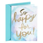 Hallmark Congratulations Card (So Happy for You)