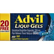 Advil Ibuprofen, Solubilized, 200 mg, Liqui-Gels