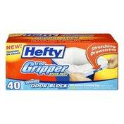 Hefty The Gripper Odor Block 13 Gallon Tall Kitchen Drawstring Bags - 40 CT