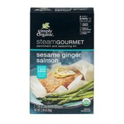 Simply Organic Steam Gourmet Parchment and Seasoning Kit Sesame Ginger Salmon