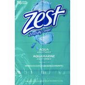 Zest Refreshing Bars, Aqua with Vitamin E, Zestfully Clean