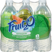 Fruit 2 O Purified Water Beverage, Watermelon, 6 Pack