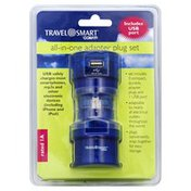 Travel Smart Adapter Plug Set, All-in-One