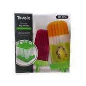 Tovolo Freezer Pop Molds Groovy Green