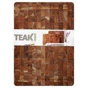 Teak Haus Cutting Board, End Grain, No Handles, Rectangular