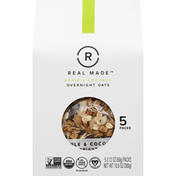 Real Made Overnight Oats, Apple & Almond, 5 Packs