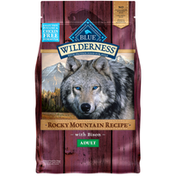 Blue Buffalo Wilderness Rocky Mountain Recipe High Protein, Natural Adult Dry Dog Food, Bison
