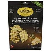 Sonoma Creamery Parmesan Crisps, Savory Seed