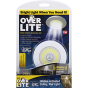 Over Lite Ceiling/Wall Light, Motion-Activated, White LED