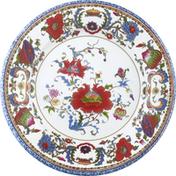 Caspari Salad/Dessert Plates, Chinese Ceramic White, 8 Inch
